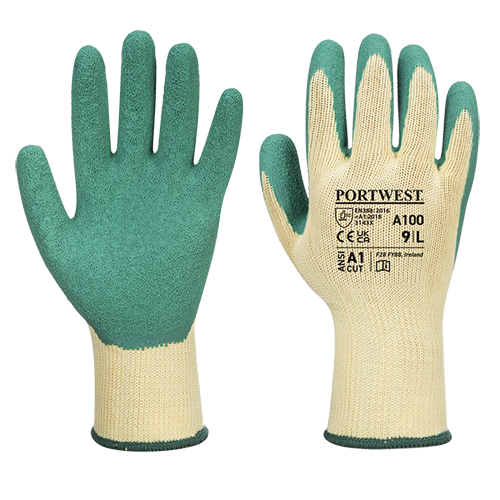 Grip Glove, Green      Size Large R/Fit