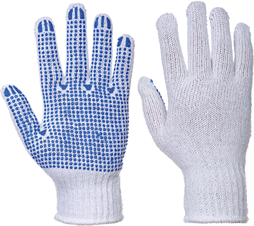 Classic Polka Dot Glove, WhBlu     Size Large R/Fit
