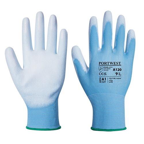 PU Palm Glove, BluBlu    Size Large R/Fit