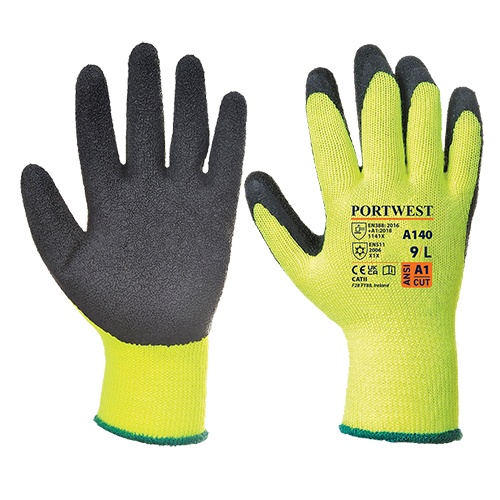 Thermal Grip Glove, YeBk      Size Large R/Fit