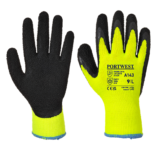 Thermal Soft Grip Glove, Yellow/Black, Large (   A143  )