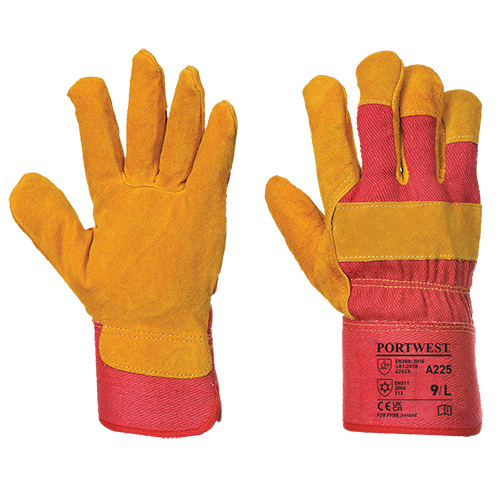 Fleece Lined Rigger Glove, Red        Size XL R/Fit