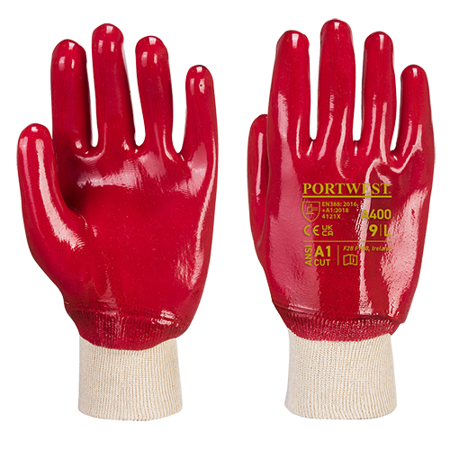 PVC Knitwrist Red Large