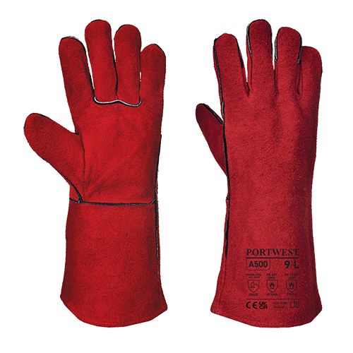 Welders Gauntlet, Red        Size XL R/Fit