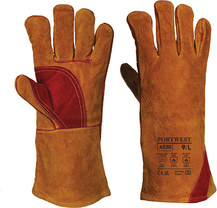 Welding Gauntlet, Brown      Size XL R/Fit