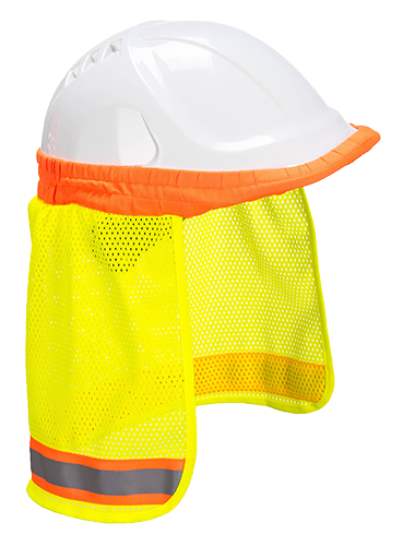 Hi-Vis Neck Shade, Yellow  R/Fit