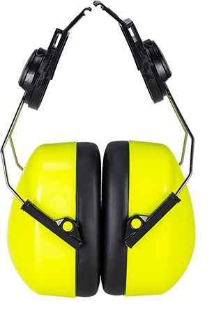 Hi-Vis Clip-On Ear Protector, Yellow  R/Fit