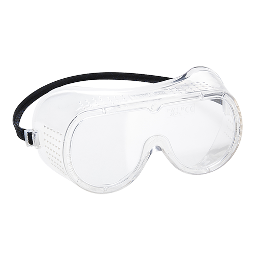 Direct Vent Goggles EN166, Clear  R/Fit