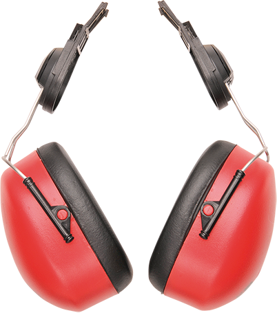 Clip-On Ear Protector, Red  R/Fit