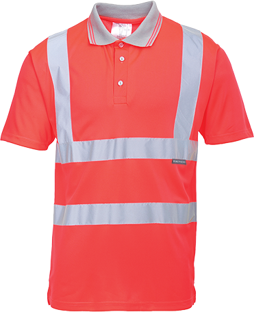 Hi-Vis S/S Polo Shirt, Red, Small (   S477  )