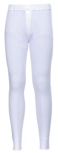 Thermal Pants, White      Size Large R/Fit